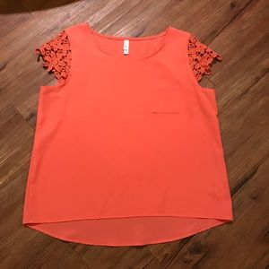 Coral Short Sleeve with Lace